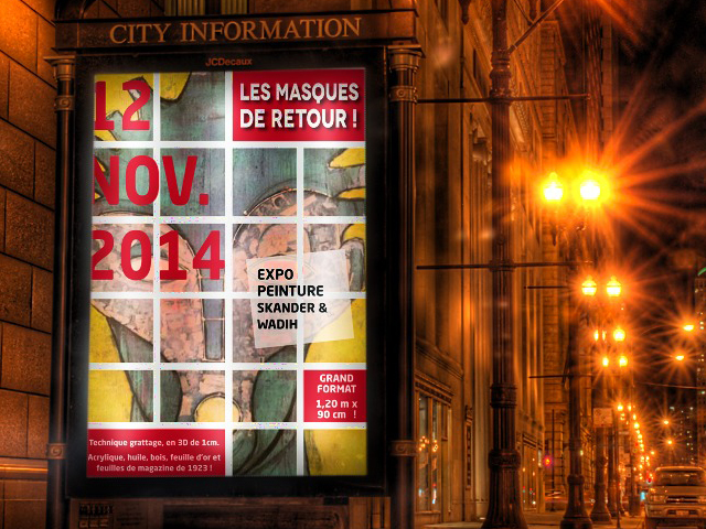 Affiche pour exposition peinture