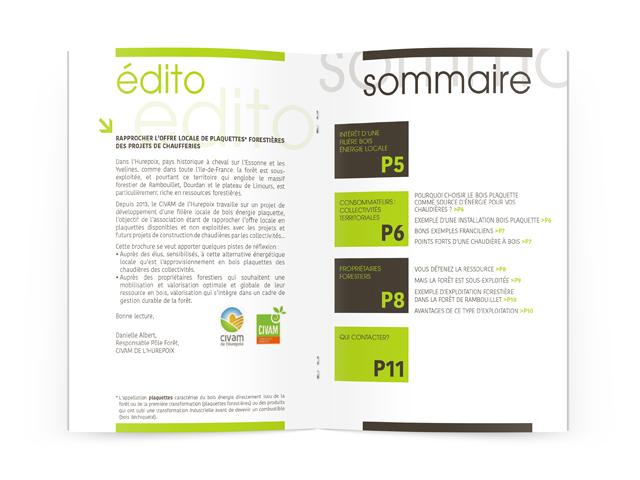 Création brochure pour Francilbois