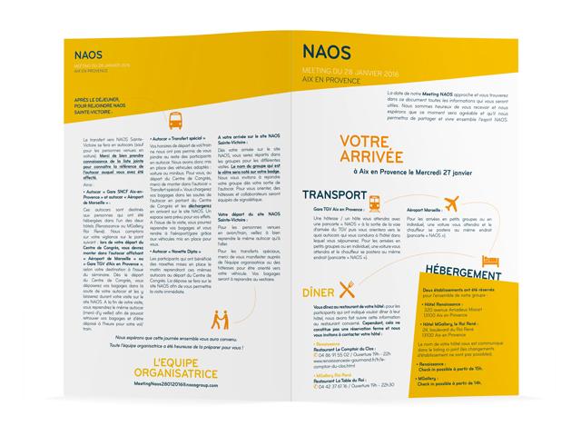 Dépliant pour le groupe NAOS